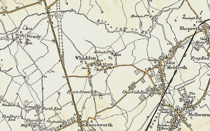 Old map of Whaddon in 1899-1901