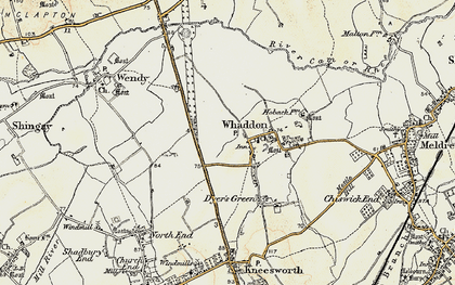 Old map of Whaddon Gap in 1899-1901
