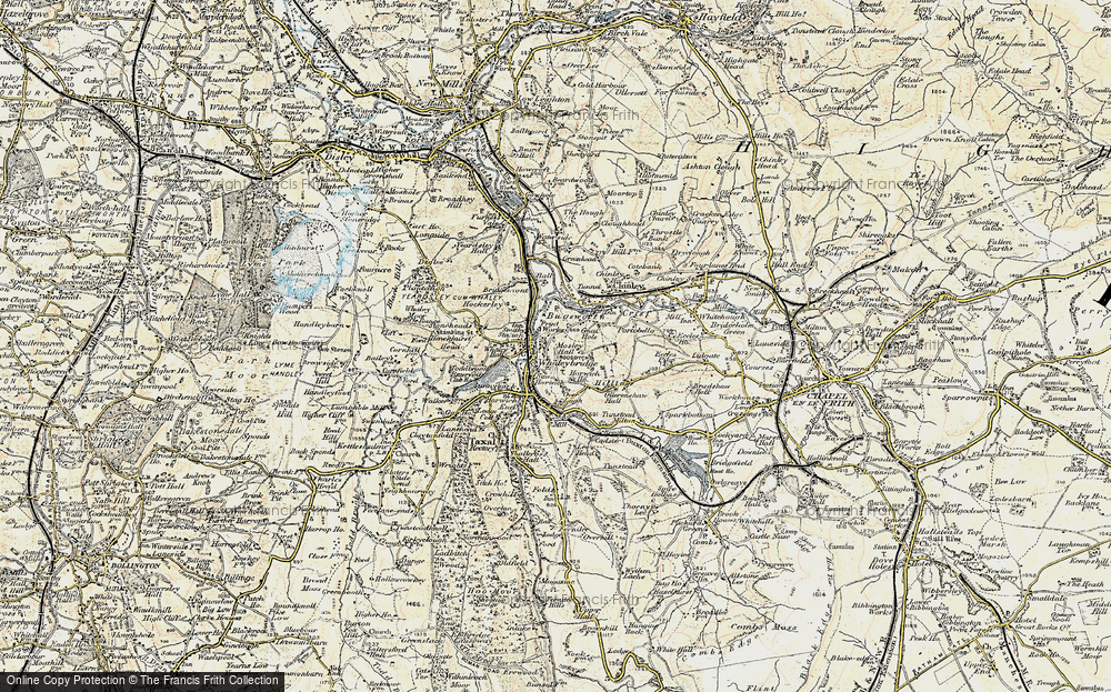 Old Map of Whaley Bridge, 1902-1903 in 1902-1903