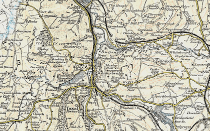 Old map of Whaley Bridge in 1902-1903