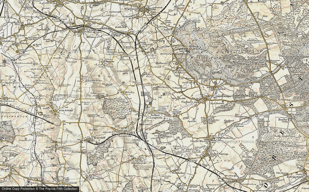 Old Map of Whaley Thorns, 1902-1903 in 1902-1903