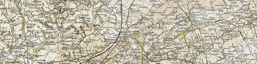 Old map of Whalley in 1903-1904