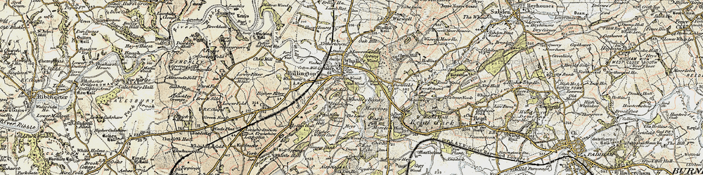 Old map of Whalley Banks in 1903-1904