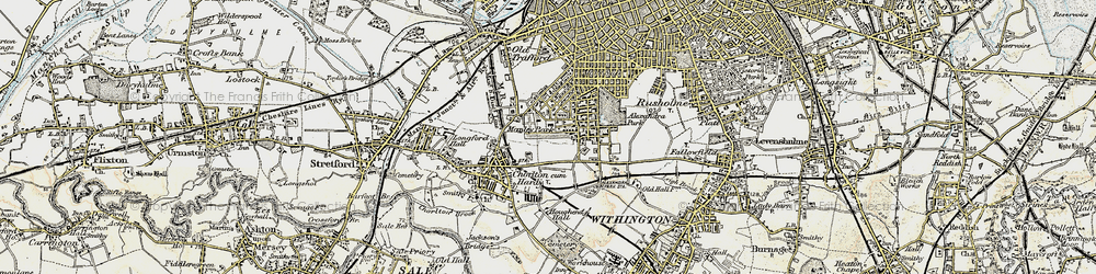 Old map of Whalley Range in 1903