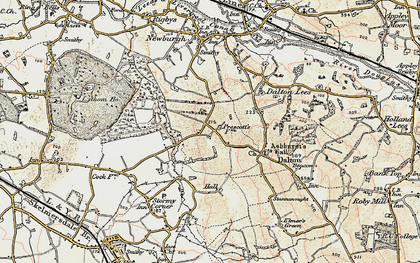 Old map of Whalleys in 1902-1903