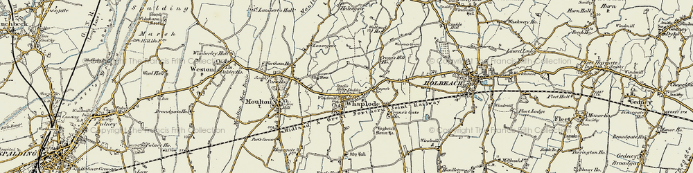 Old map of Whaplode in 1901-1902