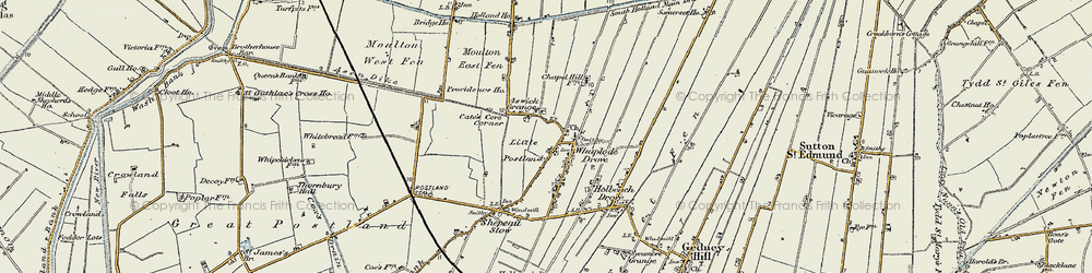 Old map of Whaplode Drove in 1901-1902