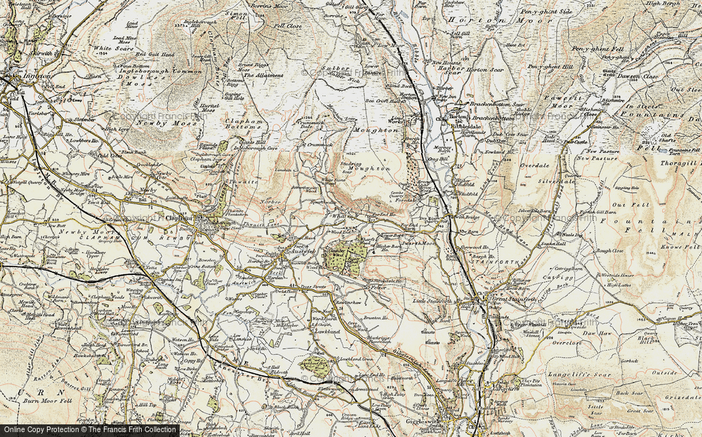 Old Map of Wharfe, 1903-1904 in 1903-1904