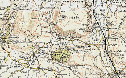 Old map of Wharfe Wood in 1903-1904