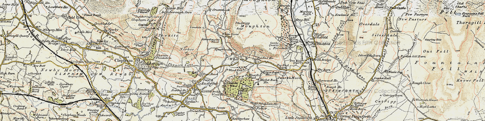 Old map of Wharfe in 1903-1904