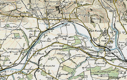 Old map of Wharmley in 1901-1904