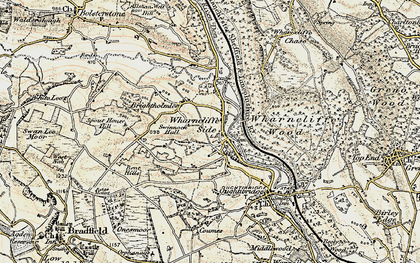 Old map of Wharncliffe Side in 1903