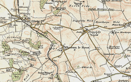 Old map of Wharram le Street in 1903-1904