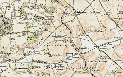Old map of Wharram Percy Village in 1903-1904