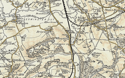 Old map of Wharton in 1900-1902