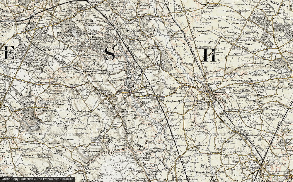 Old Map of Wharton, 1902-1903 in 1902-1903
