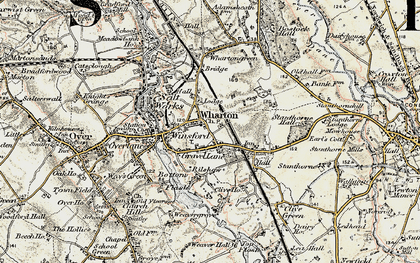 Old map of Wharton in 1902-1903