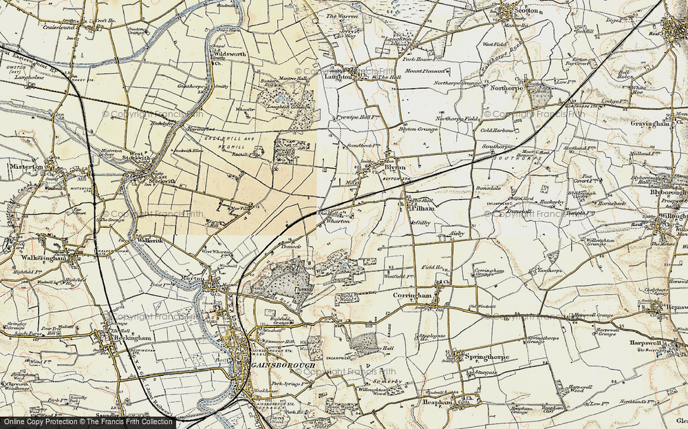 Old Map of Wharton, 1903 in 1903