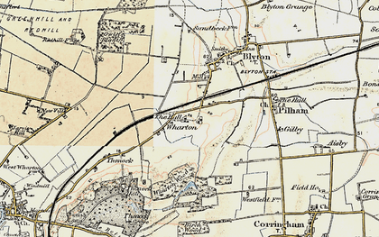 Old map of Wharton Wood in 1903