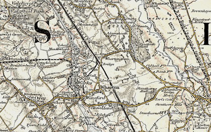 Old map of Wharton Green in 1902-1903