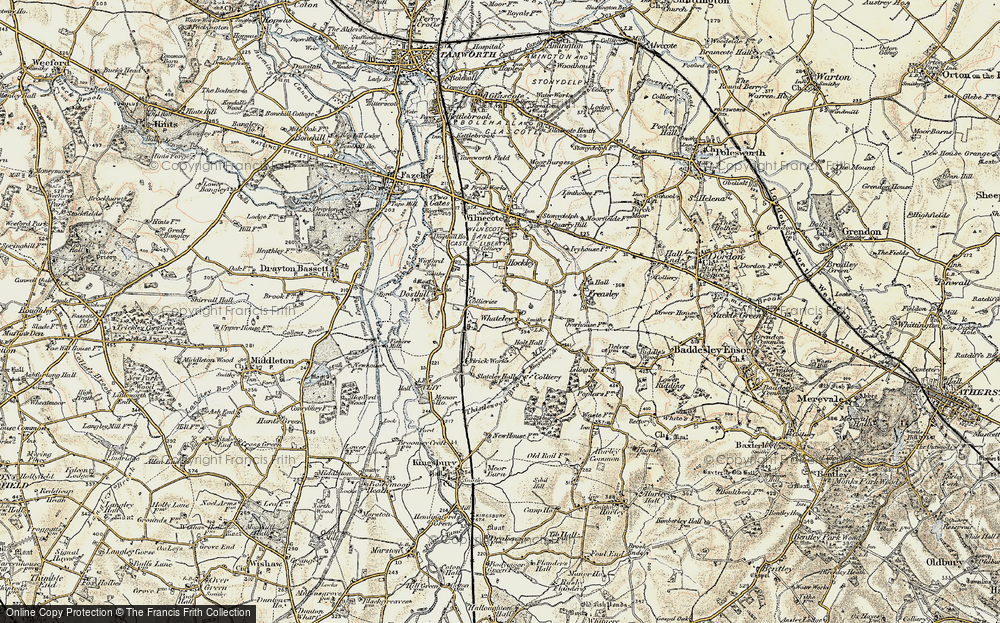 Old Map of Whateley, 1901-1902 in 1901-1902