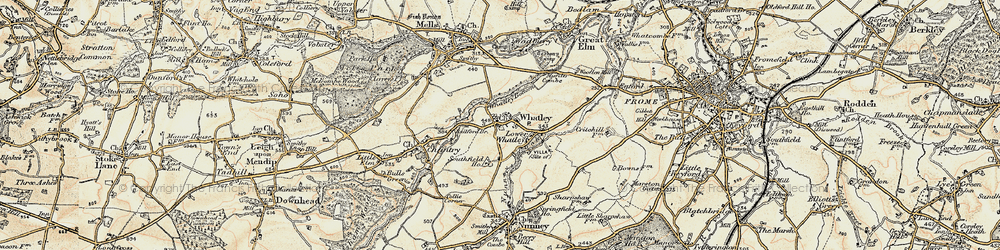 Old map of Whatley in 1898-1899