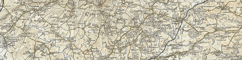 Old map of Whatmore in 1901-1902
