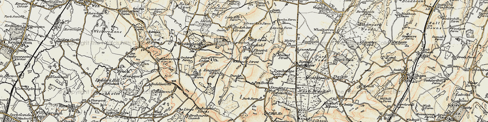 Old map of Whatsole Street in 1898-1899
