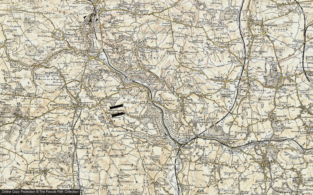 Old Map of Whatstandwell, 1902-1903 in 1902-1903