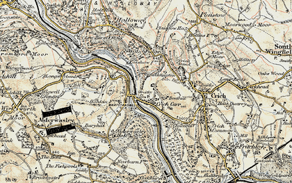 Old map of Whatstandwell in 1902-1903