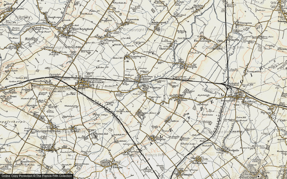 Old Map of Whatton-in-the-Vale, 1902-1903 in 1902-1903