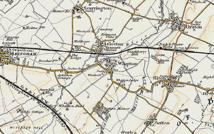 Old map of Whatton-in-the-Vale in 1902-1903