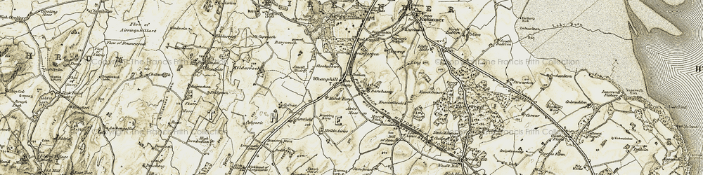 Old map of Whauphill in 1905