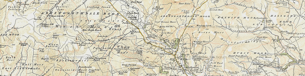 Old map of Whetshaw Bottom in 1903-1904
