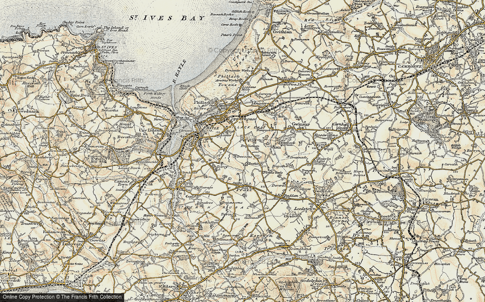 Old Map of Wheal Alfred, 1900 in 1900