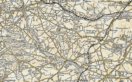 Old map of Wheal Baddon in 1900