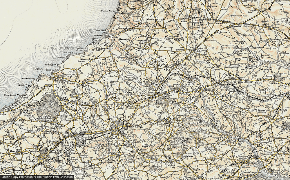 Old Map of Wheal Rose, 1900 in 1900