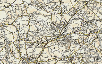 Old map of Wheal Rose in 1900