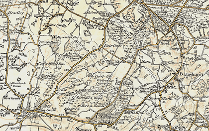 Old map of Wheat Hold in 1897-1900