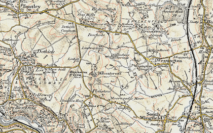 Old map of Wheatcroft in 1902-1903