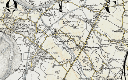 Old map of Whitminster Ho in 1898-1900