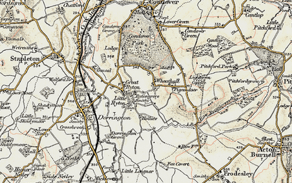 Old map of Lightgreen Coppice in 1902
