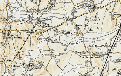 Old map of Wheathill in 1899
