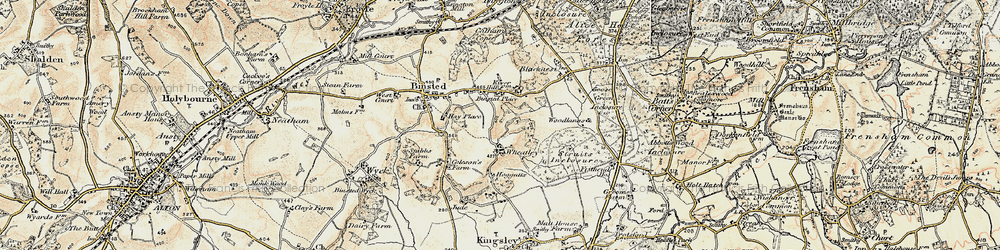 Old map of Wheatley in 1897-1909