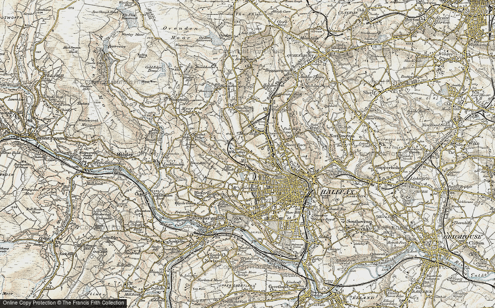 Old Map of Wheatley, 1903 in 1903