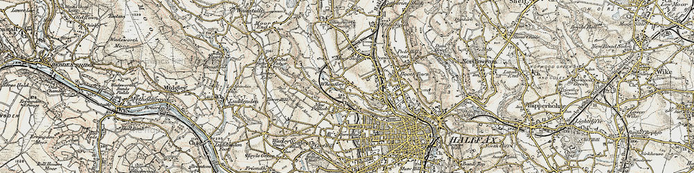 Old map of Wheatley in 1903