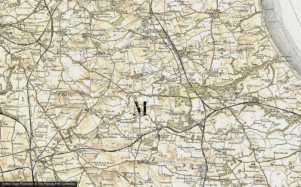 Old Map of Wheatley Hill, 1901-1904 in 1901-1904