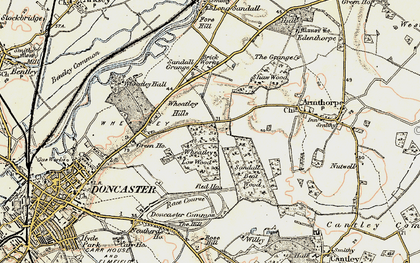 Old map of Wheatley Hills in 1903