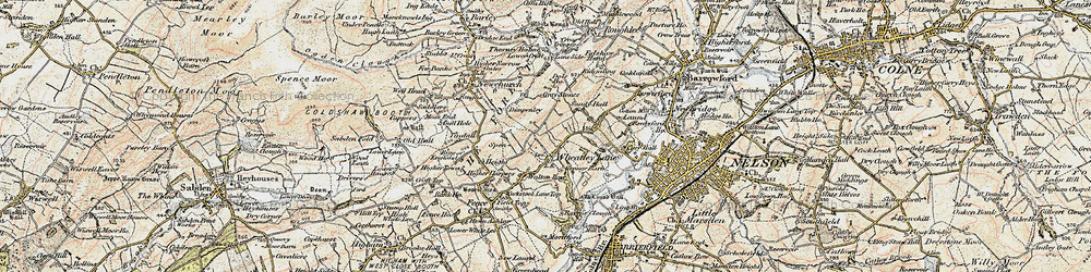 Old map of Wheatley Lane in 1903-1904