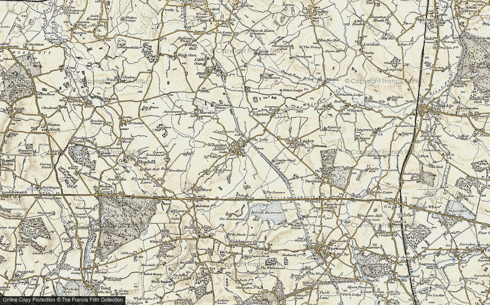 Old Map of Historic Map covering Lights, The in 1902